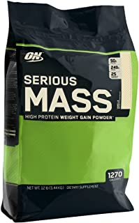 Optimum Nutrition Serious Mass Vanilla Protein Powder Gainer, 5.44 Kilograms