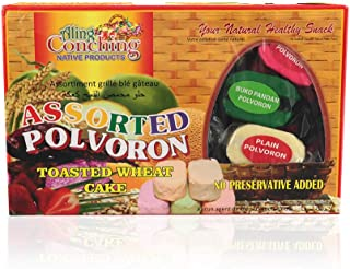 Aling Conching Assorted Polvoron, Toasted Wheat Cake, Net Wt 17.6oz (500g), 1 Pack