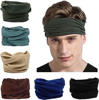 Toes Home 6PCS Outdoor Magic Headband Elastic Seamless Bandana Scarf UV Resistence Sport..