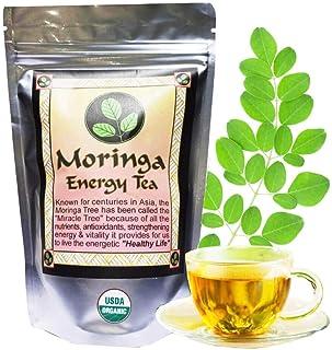 MORINGA ENERGY TEA - Loose leaf 3 oz. USDA Organic, hand harvested at the optimal growth stage & freshly packaged moringa ...