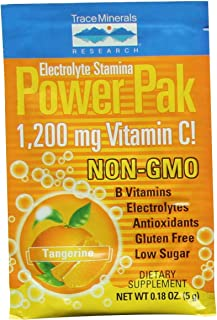 Trace Minerals Electrolyte Stamina Power Pak Non-GMO, Tangerine, 30 Count