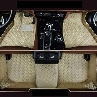 SIZHINIAN Alfombrillas Personalizadas Ford F150 2015-2018 Pickup 4 Puertas Impermeable Antideslizante Juego de alfombras de Cuero antiarañazos, Beige,