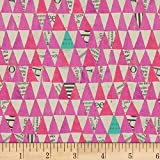 Windham Fabrics Carrie Bloomston Wonder Stacked Triangle Fabric, Orchid, Fabric By The Yard
