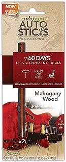 Enviroscent 01079-036 Mahogany Wood Autosticks Car Air Freshener - 2 per Pack