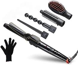 TGGongshengfe Hair Straightener, 5 in1 Tube Changer Hair Straightener Adjusts The Temperature Ceramic Hairdressing Set