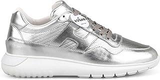 HOGAN Luxury Fashion Womens HXW3710AP20JZMB200 Silver Sneakers | Season Permanent