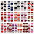 16 Sheets Full Wraps Nail Polish Stickers,DIY Self-Adhesive Nail Art Decals Strips