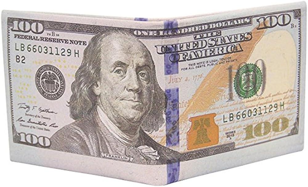 Sibalasi-Novelty Men's US New sales Dollar Wallet New product Busi Clip Money Billfold