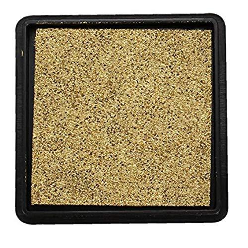Aiyrchin 40 * 40mm cojín de Tinta de la Huella del bebé Huella de Mano no tóxico y Libre de ácido de la Tinta de Oro