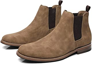 Cestfini Mens Casual Chelsea Slip On Boots, Suede Fashion Dress Boots for Men and Formal Ankle Oxford Boots