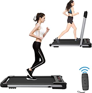 2 in 1Folding Treadmill, Treadmill Electrica Under Desk Treadmills for Home, Easy Installation, Remote Control, LED Display, Walking Jogging Machines