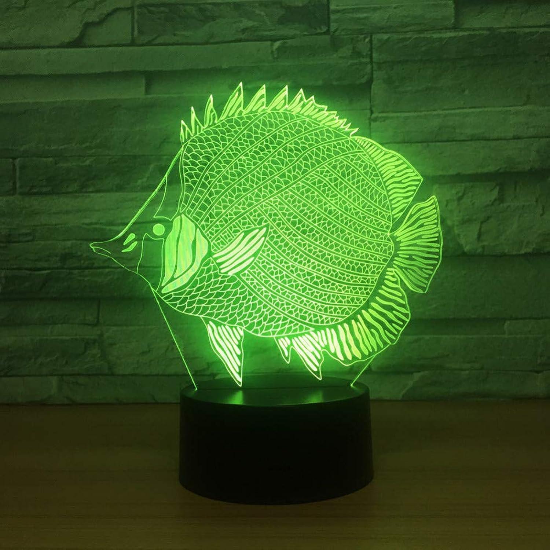 Laofan Fisch Led 3D Nachtlicht Remote Touch USB Led 3D Lampe 7 Farben ndern Stimmung Atmosphre Lampe Für Kinder Geschenk,Fernbedienung