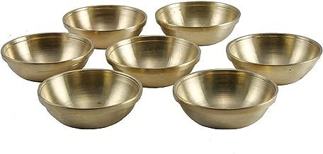 Offering Bowls Tibetan Buddhist Brass Set, Set of Seven