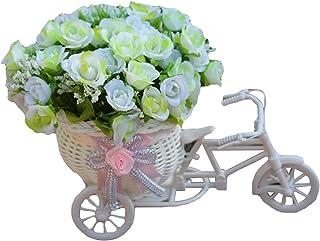 Pasqua Porta dingresso Ghirlanda Simulazione Fiori Foglie Griglia Bowknot Bicicletta Primavera Corona Appeso Ornamento Decorazione per Pasqua feste 19 pollici Migaven Decorazioni Pasquali