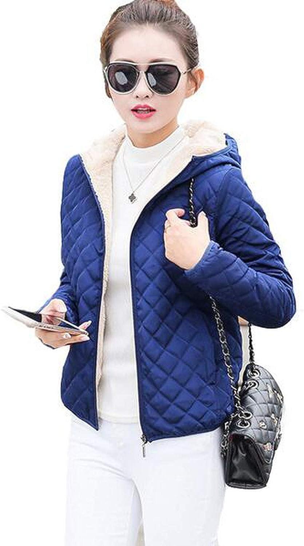 Hooded Fleece Women Warm Long Sleeve Ladies Basic Coat Wadded Jacket Outerwear LU407