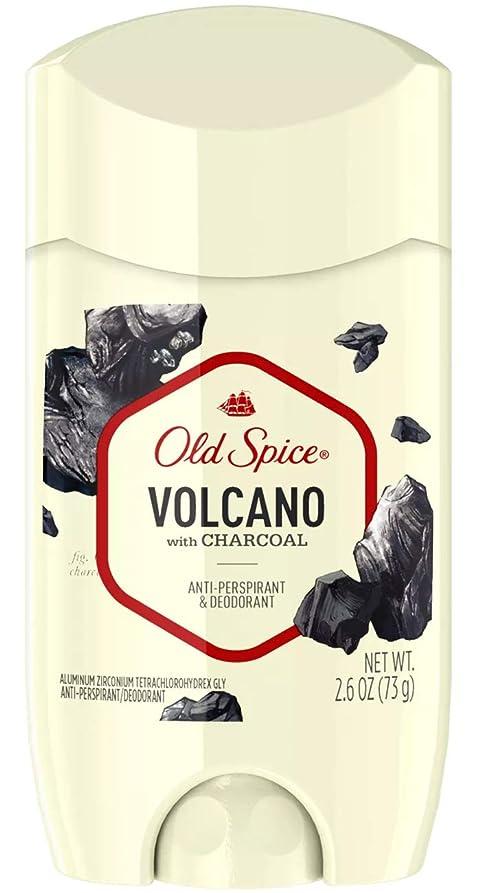 呼ぶ馬鹿乱雑なオールドスパイス Old Spice メンズ デオドラント ボルケーノ チャコール 男性用 固形 制汗剤 73g