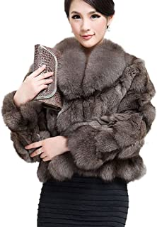 Women's Genuine Fox Fur Coat for Winter Thick Warm Fur Jacket