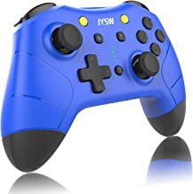 Wireless Pro Controller for Nintendo Switch - JYSW Wireless Remote Controller Gamepad Joypad Joystick for Nintendo Switch Console/Switch Lite, Support Manual & Auto Turbo | Dual Shock | Gyro Axis Blue