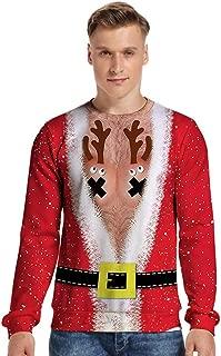 KCatsy Mujer Plus Size Oversize Men Sudadera Navidad Navideño ...