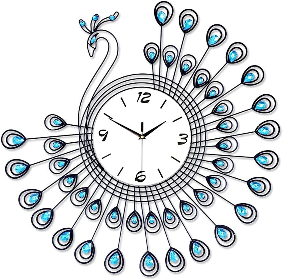 XJJZS Peacock Wall Clock Latest item Modern Quart 2021 spring and summer new Fashion Large Silent Watch