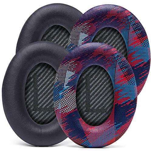Design Pack 1 | WC Wicked Cushions Replacement Ear Pads Compatible with Bose QuietComfort 35 (QC35) & QuietComfort 35ii (QC35ii) Headphones & More - Improved Comfort & Durability, Updated Version 2020