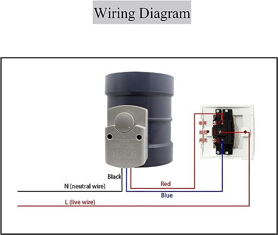 220v 4N HVAC compuerta motorizada para ventilaci/ón aire fresco valvula obturador aire di/ámetro 80 100 125 150 200 250 mm 3 /ángulos Altura 190mm + di/ámetro externo 125mm