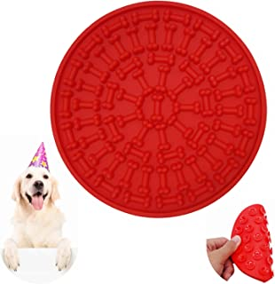 Helpcook Dog Lick Pad, Dog Washing Distraction Device,Pet Bath Grooming Helper,Slow Treat Dispensing Mat-Super Strong Suction Force-Just Add Peanut Butter to Make Bath Time Easy