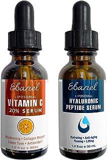 Ebanel 20% Vitamin C Serum Hyaluronic Acid Serum for Face - Ultimate Anti Aging Serum Set - Deep Hydrating,...