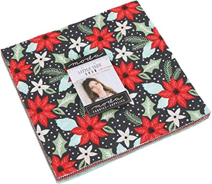 """MODA Little Tree Layer Cake, 42-10"""" Precut Fabric Quilt Squares by Lella Boutique"""