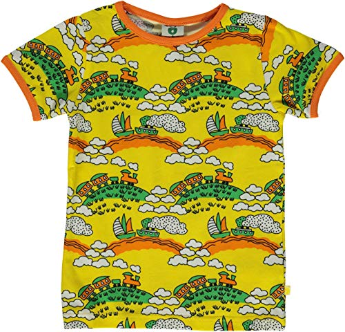 Smafolk T-Shirt gelb mit Eisenbahn 104/110