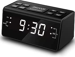 Clock Radio, Digital AM FM Alarm Clock Radio for Bedroom Guestroom or Livingroom