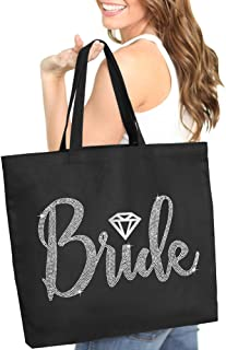 Reusable Tote for Bachelorette Gifts /& Bachelor Party Bags Bridal Shower Thank You Pink//Orange Avery Barn 12 Pc Wedding Favor Bag Set w// 6 Bridesmaid /& 6 Groomsmen Grooms Clan /& Bride Tribe