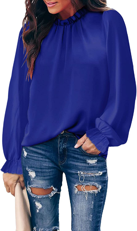Astylish Women Summer Halter Chiffon Tank Tops Casual Sleeveless Shirts Fall Long Sleeve Blouses(S-XXL)