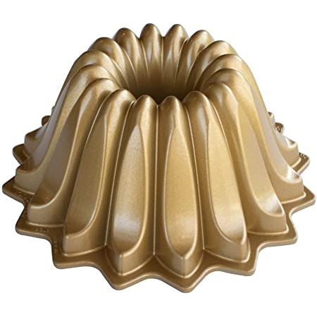 Nordic Ware Lotus Bundt Pan Gold, 5 Cup Capacity