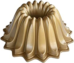 Nordic Ware 84177 Lotus Bundt Cake Pan, One Size, Gold