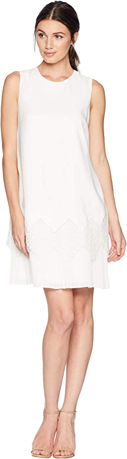 Nadeen Pleated Detail Hem Shift