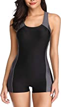 yilisha Women's Athletic One Piece Swimsuit Lap Boyleg Sport Bathing Suits Swimwear