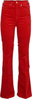 7 for All Mankind Luxury Fashion Womens JSQNV650RE Red Jeans | Fall Winter 19
