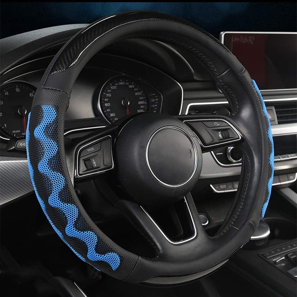 ZHHk Steering Finally popular brand Wheel Ranking TOP3 Cover Blue-Black Honeycomb Mesh Car