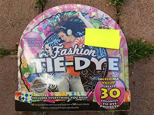 FASHION TIE DYE KIT 30 projects safety tested craft kids 6+ EASY Horizon DYE TEE SHIRTS KIT