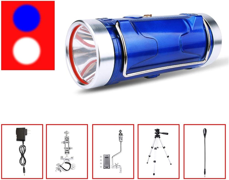 FTD Continuous Lampe Lampe Lampe zum Fischen, Blau Weiß Doppelte Lichtquelle Suchscheinwerfer Camping Notlicht Multifunktion Laternen Super Hell Wasserdicht Xenon Taschenlampe Long Service Life B07P1S32PF   Elegantes Aussehen  55947f