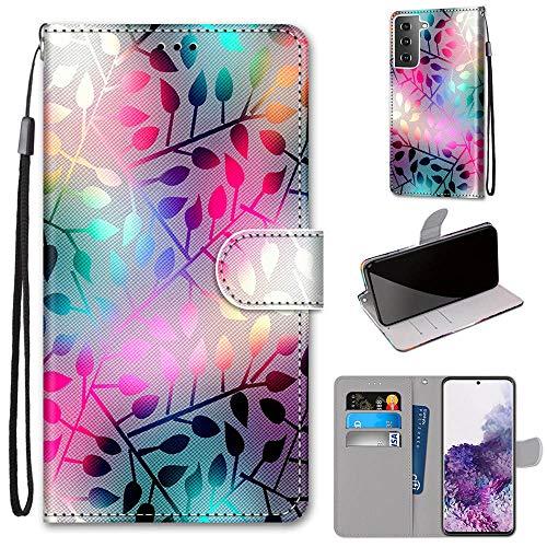 DICASI Hülle für Samsung Galaxy S21+ Plus Handyhülle Tasche Premium PU Leder Brieftasche stoßfest Flipcase, mit Kartenfach & Standfunktion Schutzhülle Klapphülle für Galaxy S21 Plus (6.7 Zoll)