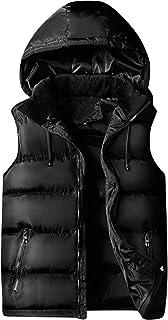 FOMANSH メンズ ダウンベスト 中綿 大きいサイズ パーカー フード付き カジュアル 防寒 秋 冬