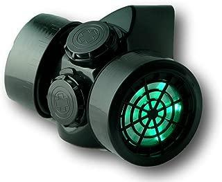 Men's LED Black Framed Steampunk Gas Mask