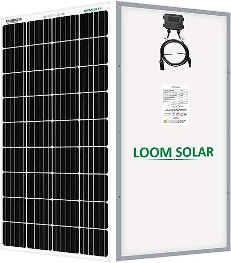 LOOM SOLAR Panel 190 Watt-12 Volt Mono PERC (Pack of 2)