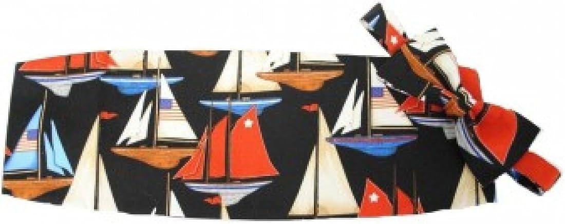 America's Cup Sailboats Tuxedo Cummerbund and Bow Tie