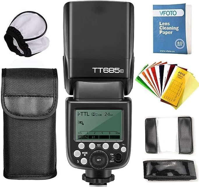 GODOX TT685 C E-TTL 2.4G Maestro-esclavo Flash linterna Speedlite 1/8000s GN60 Inalámbrico con Flash Difusor Softbox Y Flash Filtros de Color Para Canon DSLR Camara EOS 400D Digital 450D 500D 550D 600D 650D 1000D 1100D 30D 40D 50D 60D 5D Mark II 5D Mark III 6D 7D