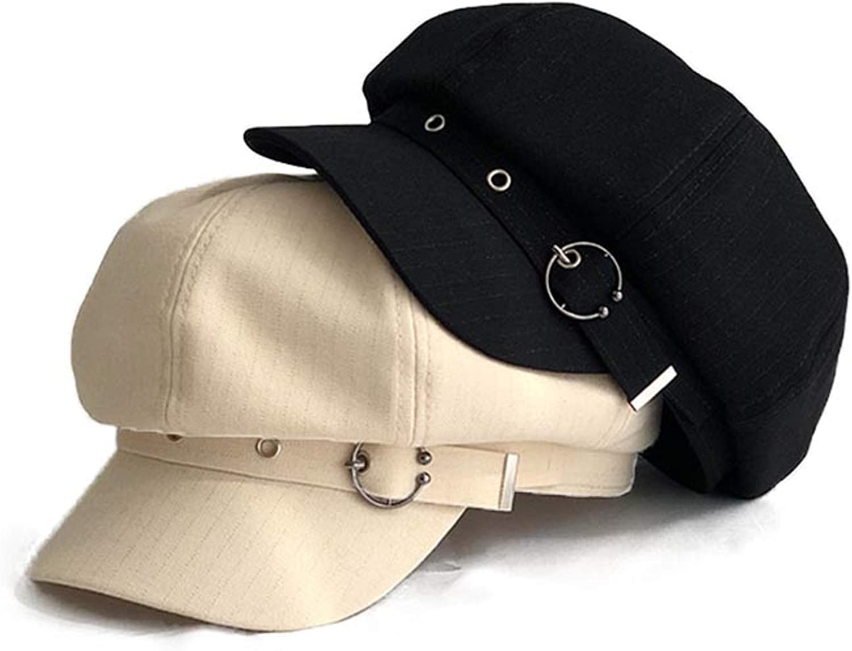 MAOJIE Women Octagonal Cap Beret Striped Retro French Artist Hat Painter Octagonal Hats