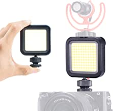 5500K COB Mini LED Video Light, Built-in Battery Ultra Bright Rechargeable On Camera Lighting w Cold Shoe Mount for iPhone Samsung Canon Nikon Sony Zhiyun Smooth 4 DJI OSMO Mobile 3 Gopro 5 6 7 8
