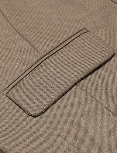 Coofandy Mens Formal Fashion Layered Vest Waistcoat Dress Vest,Brown,XX-Large